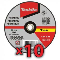 Disco Corte Aluminio 115x1,6 mm 10 Unidades Accesorios
