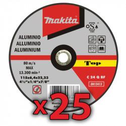 Disco Corte Aluminio 115x1,6 mm 25 Unidades Accesorios