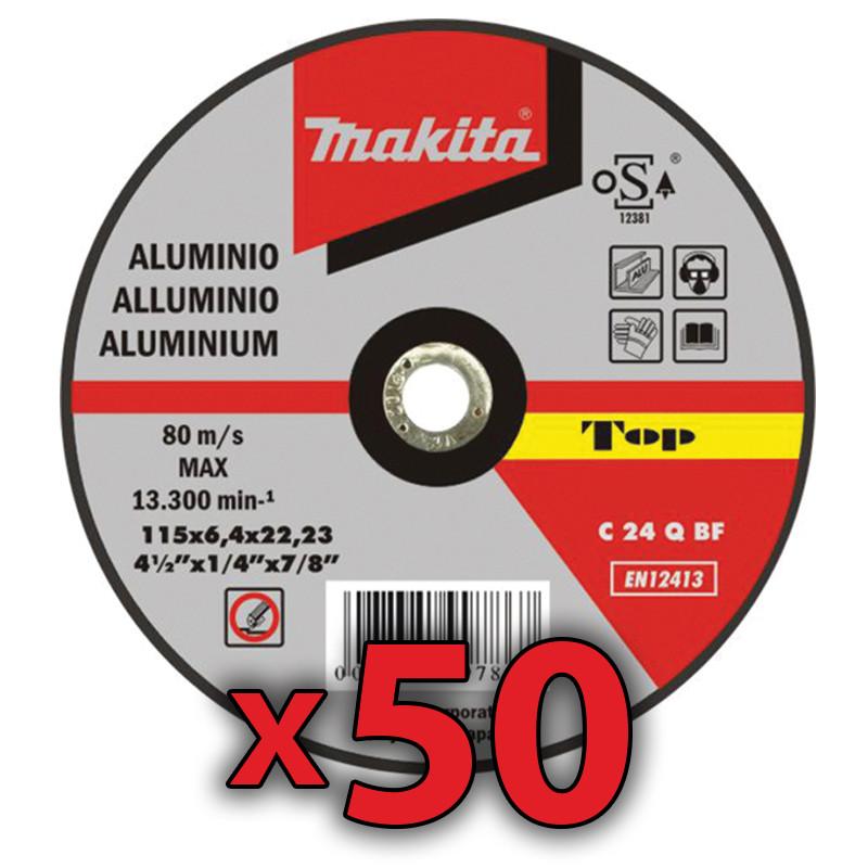 Disco Corte Aluminio 115x1,6 mm 50 Unidades Accesorios