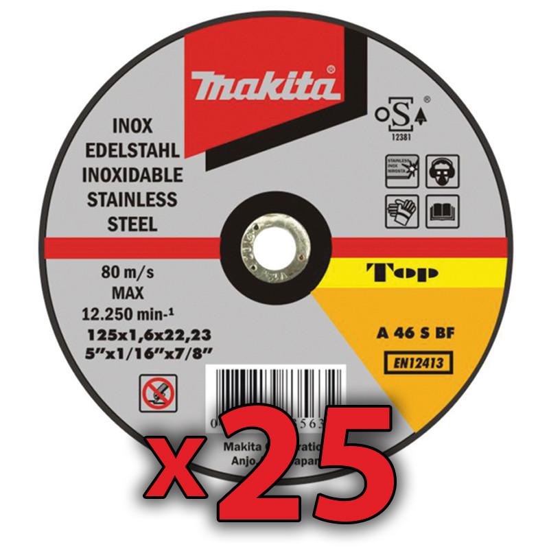 Disco Corte Acero Inoxidable 115x1mm 25 Unidades Amoladoras