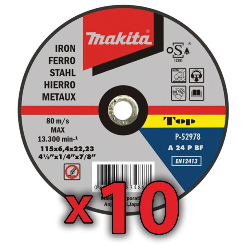Disco Repasar 115x6,4 mm 10 Unidades Accesorios