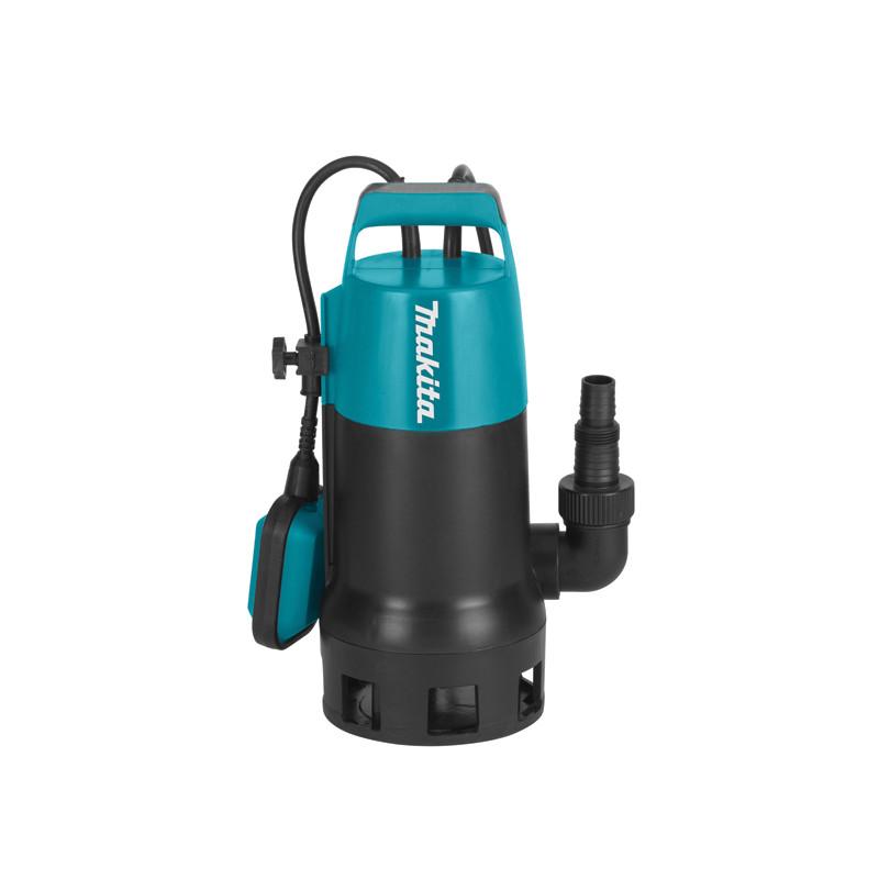 Electrobomba Aguas Sucias 1.100W 240L/min PF1010 + Set de abrazaderas y Adaptador PVC Electrobombas