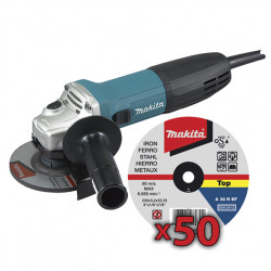 Amoladora 115mm 720W SAR GA4530R + 50 Discos P53001 115 mm