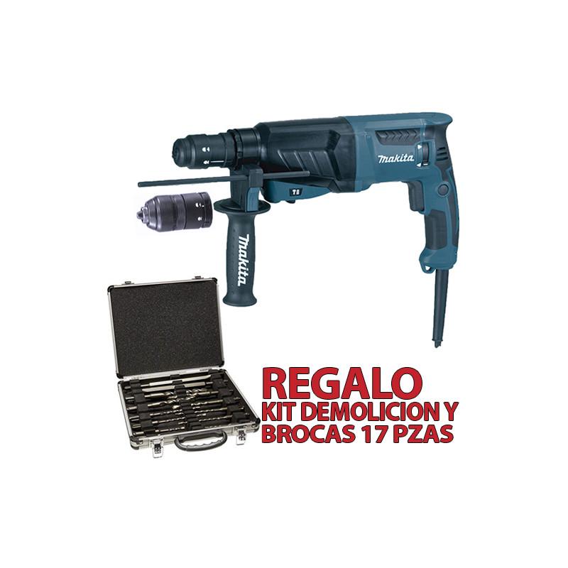 Martillo Ligero 3 Modos 2 Portabrocas 800W HR2630T + KIT DEMOLICIÓN Martillos Ligeros