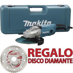 Amoladora 230mm 2.200W SAR GA9020RKD Maleta + 2 Discos Diamante 230 mm