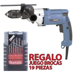 Taladro Percutor 20mm 720W Automático HP2051 + Juego Brocas Metal 19 Pzas Taladros Con Percutor