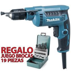 Taladro Sin Percutor 6,5mm 370W Automático DP2011 + Regalo Juego Brocas Metal Taladros Sin Percutor