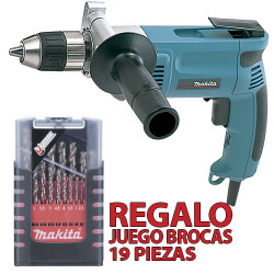 Taladro Sin Percutor 13mm 750W Automático DP4003 + Regalo Juego Brocas Cobalto Taladros Sin Percutor
