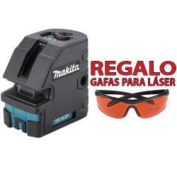 Nivel Láser Cruz y Plomada 60m SK103PZG Con Gafas Especial Láser Niveles