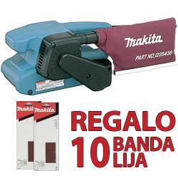 Lijadora de Banda 76x457mm 650W 9910 + 10 Bandas Lija Lijadoras de Banda