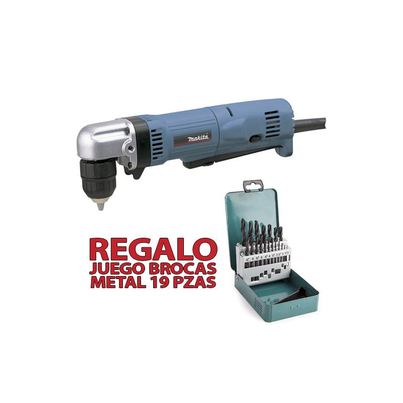 Taladro Angular 10mm 450W Automático DA3011F1 + JUEGO BROCAS METAL Taladros Angulares