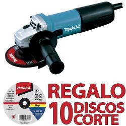 Amoladora 125 mm 840 W 9558PBY + 10 DISCOS CORTE P53023 125 mm