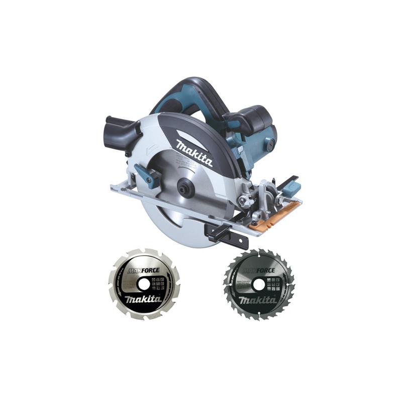 Sierra Circular 190mm 1.400W Magnesio HS7100 + Discos Corte Madera Sierras Circulares