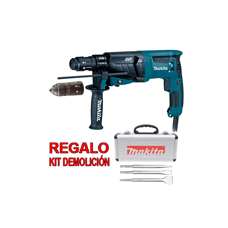 Martillo Ligero 3 Modos AVT 800W HR2631FT + Regalo Kit Demolición Martillos Ligeros