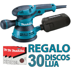 Lijadora Rotorbital 300W V.Variable 125mm BO5041 + 40 Discos Lija 125mm