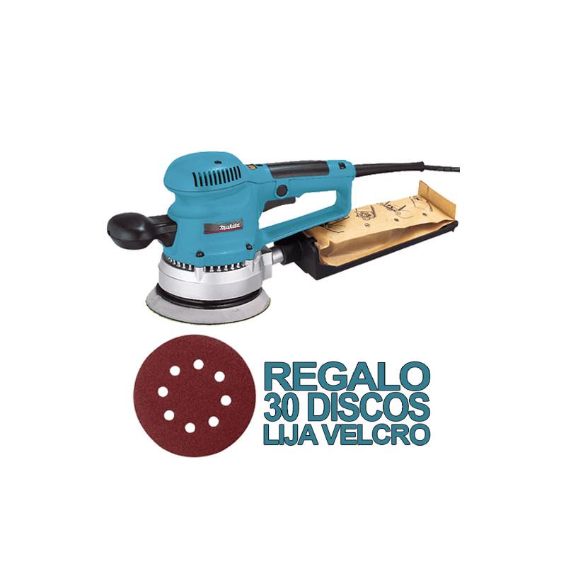 Lijadora Rotorbital 310W V.Variable 150mm BO6030 + 30 DISCOS DE LIJA 150mm