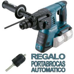 Martillo 3 Modos 26mm 2x18V DHR263Z + Portabrocas Automático Martillos