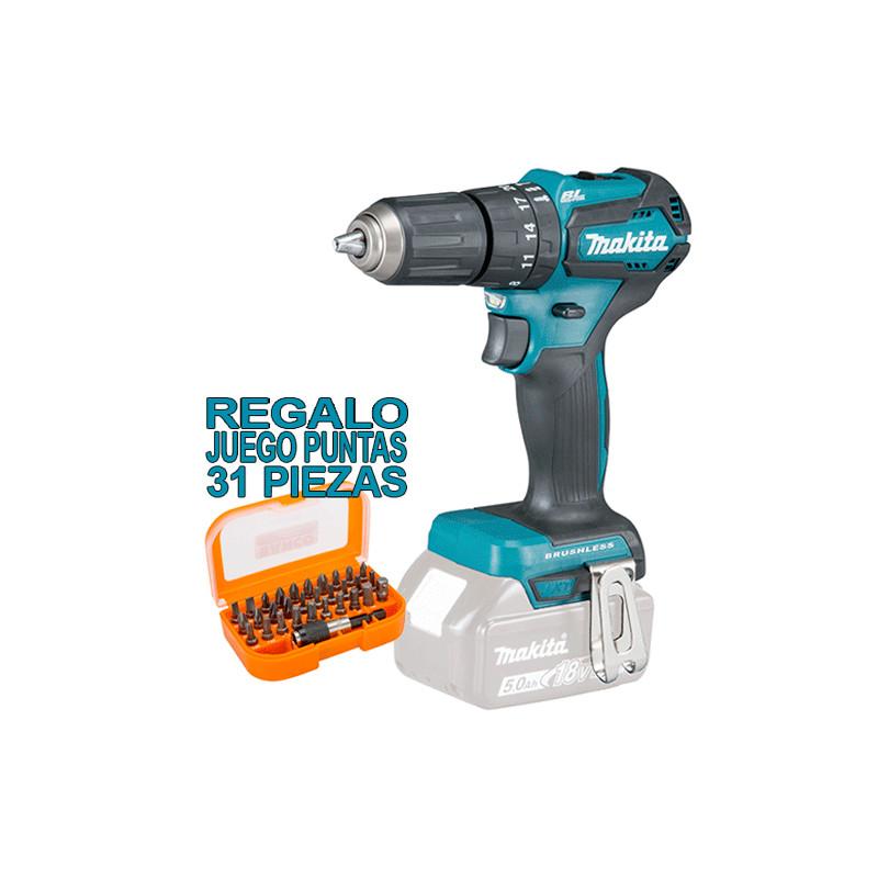 Taladro Combinado BL 18V 40Nm DHP483Z + Regalo Juego Puntas + Adaptador Taladros Percutores