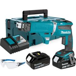 Atornillador Pladur BL 18V 4.000R.p.m. 5.0Ah DFS452RTJ + Set Autoalimentado + Regalo Gafas Protección Atornilladores Pladur