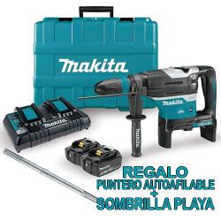 Martillo Electroneumático 18V+18V 40mm BL DHR400PT2U + BATERÍAS 5.0AH + CARGADOR DOBLE + REGALOS PUNTERO Y SOMBRILLA TOP OFER...