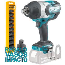 """Llave Impacto BL 18V 1.050Nm 3/4"""" DTW1001Z + Juego Vasos Impacto + Adaptador Llaves de Impacto"""